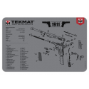 TekMat Handgun Cleaning Mat 1911 Gray