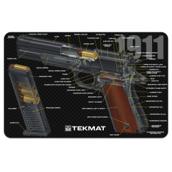TekMat Handgun Cleaning Mat 1911 Cut Away