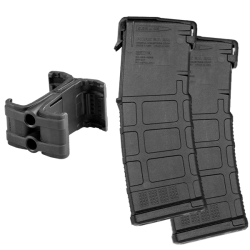 Two Magpul PMAG Gen M3 AR-15 30-Round Magazines and Maglink Promo Right View