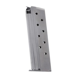 Metalform Standard 1911 Government, Commander 9mm, Stainless Steel (Removable Base & Flat Follower) 9-Round Magazine Right