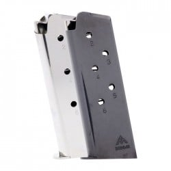 Mec-Gar 1911 Officer .45 ACP 6-Round Magazine Left View