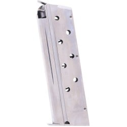 Springfield Armory 1911 .40 S&W 8-Round Factory Magazine Nickel Left View