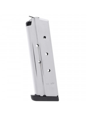 Check-Mate 1911 10mm 8-Round Stainless Steel Magazine w/ Removable Base Left