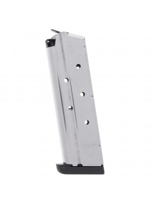 Check-Mate 1911 .40 S&W 8-Round Stainless Steel Magazine w/Removable Base Left