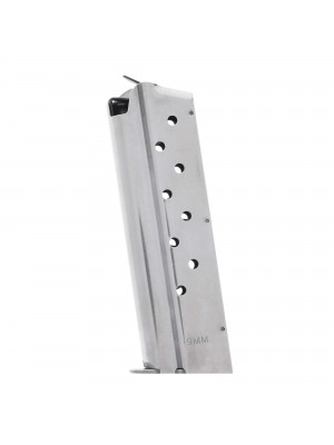 Check-Mate 1911 9mm 9-Round Stainless Steel Magazine Left