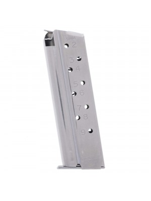 CMC Products Match Grade Full-Size 1911 9mm 9-Round Stainless Steel Magazine Left