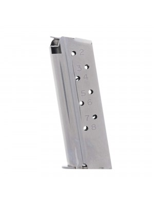 CMC Products Match Grade 1911 Compact 9mm 8-Round Stainless Steel Magazine Left