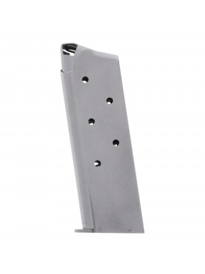 Metalform 1911 Officers .45 ACP Stainless Steel (Welded Base & Round Follower) 6-Round Magazine Left