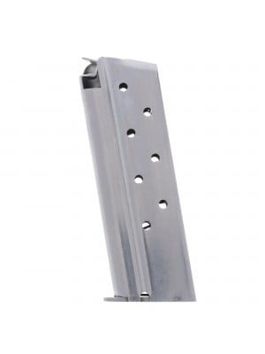 Metalform Officers 1911 9mm, Stainless Steel (Welded Base & Flat Follower) 8-Round Magazine Left