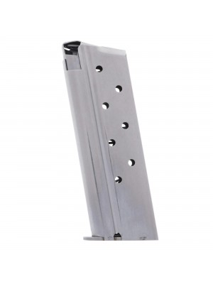 Metalform 1911 Officers .38 SUPER, Stainless Steel (Welded Base & Round Follower) 8-Round Magazine Left