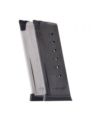 Mec-Gar 1911 Officer .45 ACP 7-Round Magazine w/ Buttplate & Follower