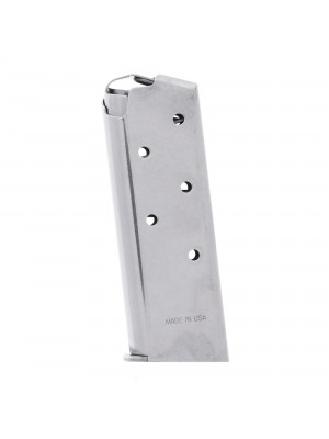 Springfield Armory 911 380 ACP 6-Round Stainless Steel Factory Magazine Left View