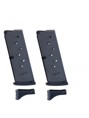2 Pack Ruger LC9/LC9S 9mm 7-Round Magazine with Extended Floorplate