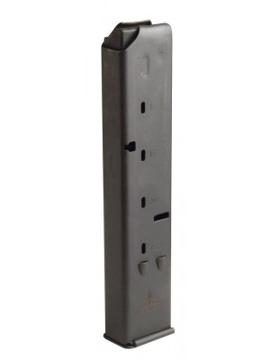 IWI US UZI Pro 9mm 25-Round Steel Magazine Black Angulated Front View