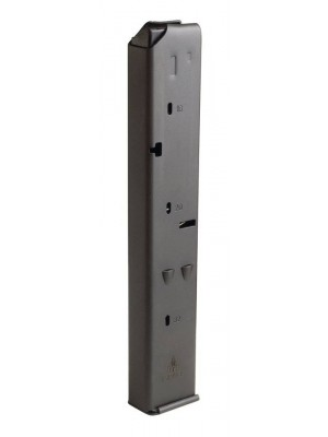 IWI US UZI Pro 9mm 32-Round Steel Magazine Black Angulated Front View