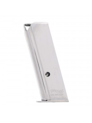 Walther PPK .380 ACP 6-Round Magazine Nickel Left