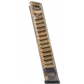 Elite Tactical Systems (ETS) Glock 22 .40 S&W 30-Round Magazine Side View loaded