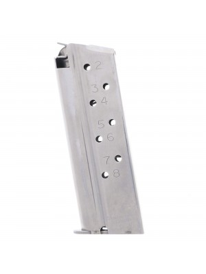 CMC Products Match Grade 1911 Compact 9mm 8-Round Stainless Steel Magazine With Pad