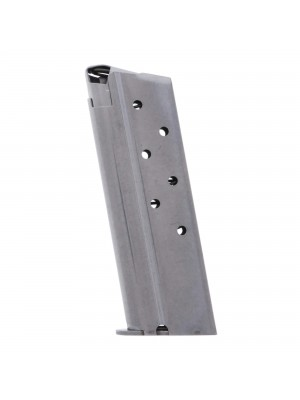 Metalform Officer 1911, 10mm, Stainless Steel (Welded Base & Round Follower) 7-Round Magazine