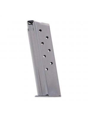 Metalform Standard 1911 Government, Commander 10mm, Stainless Steel (Removable Base & Round Follower) 8-Round Magazine