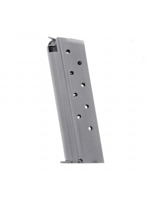 Metalform Standard 1911 Government, Commander 9mm, Stainless Steel (Welded Base & Flat (Split) Follower) with Front Rib 9-Round Magazine