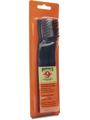 Hoppe's Gun Cleaning Brushes, 3 Pack