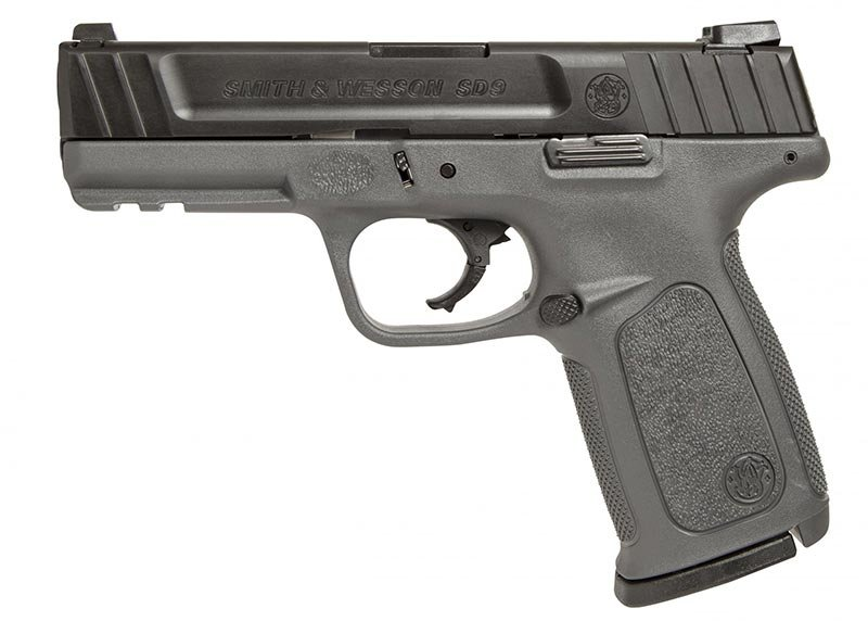This is the Smith & Wesson SD9 with a gray frame.